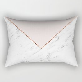 Peony blush geometric marble Rectangular Pillow