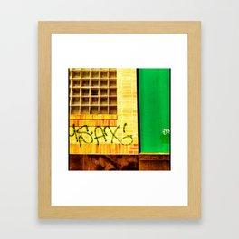 going green Framed Art Print