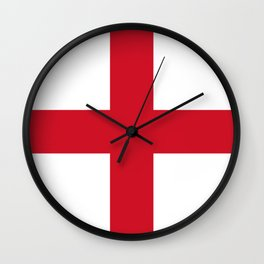 Flag of England (St. George's Cross) - Authentic version to scale and color Wall Clock