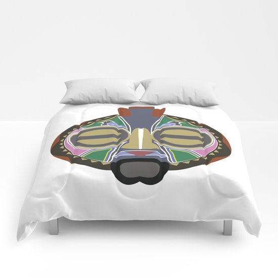 African Tribal Mask No. 6 Comforters