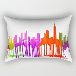 Chicago, Illinois Skyline Puddles Rectangular Pillow