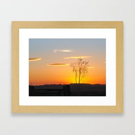 Sunset at St Aidan's Framed Art Print