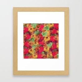 Seamless Pattern of Tropical Leaves Framed Art Print