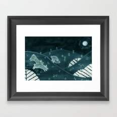 Midnight Run Framed Art Print