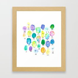 Watercolor Monster Party! Framed Art Print