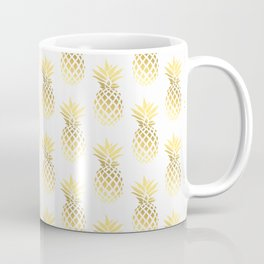 Elegant faux gold pineapple pattern Coffee Mug