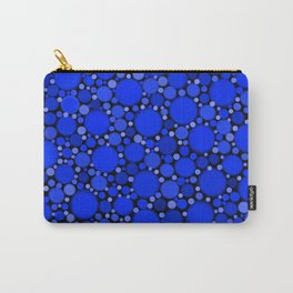 Vibrant Cobalt Blue Polka Dots Carry-All Pouch