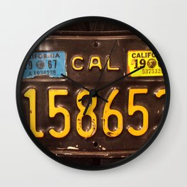 Motorcycle license plate Wall Clock