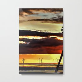 Sun going down Metal Print
