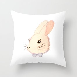 Little Bunny Throw Pillow