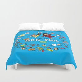 The Vortex of Everything Dan and Phil Duvet Cover
