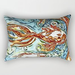 Bubbly Goldfish watercolor by CheyAnne Sexton Rectangular Pillow