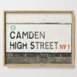 Camden High Street Sign Serving Tray