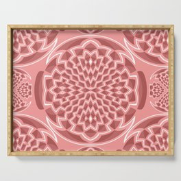 Coral pink geometric Serving Tray