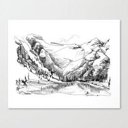 Long Lake Reflections Canvas Print