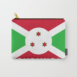 Burundi country flag name text Carry-All Pouch