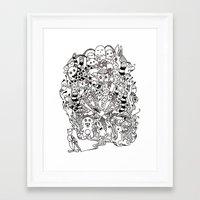 lsd Framed Art Prints featuring LSD by octavio ramirez