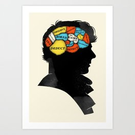 Sherlock Phrenology Art Print