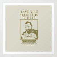 les mis Art Prints featuring [ Les Miserables ] Jean Valjean Hugh Jackman Mis by Vyles