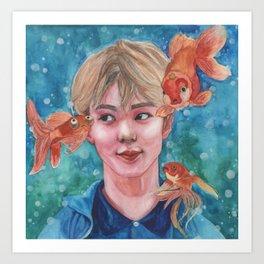 Just Keep Swimming (Nautical Dreams of Innocence) Art Print