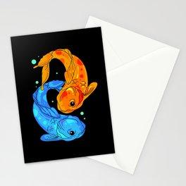 Koi Fish Colorful Nishikigoi Japanese Koi Carp Stationery Cards