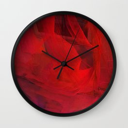 Red Fire Wall Clock
