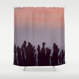 Twilight Cacti Shower Curtain