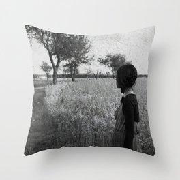 Sad girl Throw Pillow