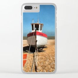 Dungeness Fishing Boat Clear iPhone Case