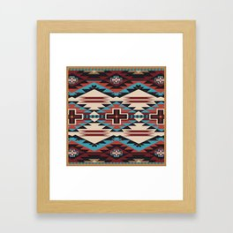 American Native Pattern No. 67 Framed Art Print
