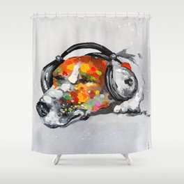 Blues for dog Shower Curtain