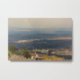 Sunset Italian countryside landscape view Metal Print