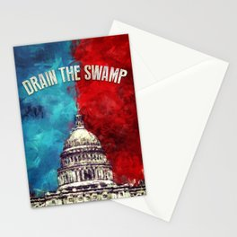 Drain The Swamp Stationery Cards