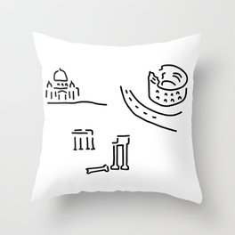 Rome kolloseum Peter's cathedral forum Throw Pillow