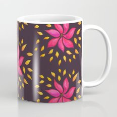 Whimsical Watercolor Floral Pattern In Pink And Purple Mug