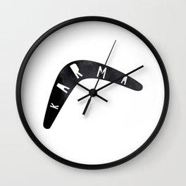 Karma / poster, boomerang, art print, pictures, scandinavian, nursery, deco, family, saying, christm Wall Clock