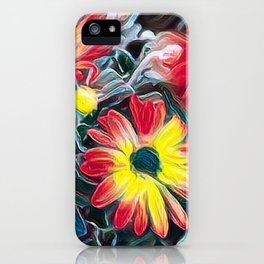 abstract gerbera daisy iPhone Case