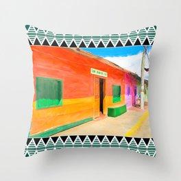 The Tropical Colors of San Juan del Sur - Nicaragua Throw Pillow