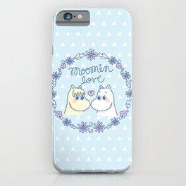 Moomin Love Sky Blue iPhone Case