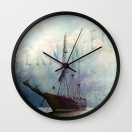 fernweh for distant lands [expedition to Galapagos] v2 Wall Clock