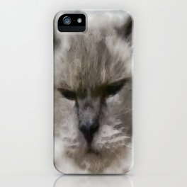 White Persian Cat In Watercolor iPhone Case