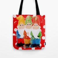 gnome Tote Bags featuring Gnome by BLOOP