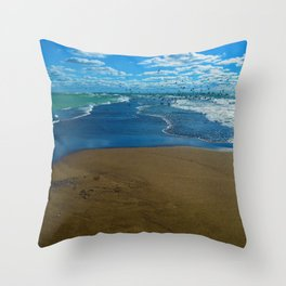 The point of Point Pelee National Park, Canada Throw Pillow