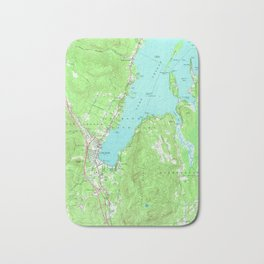 Vintage Map of Lake George New York (1966) Bath Mat