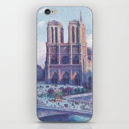 Notre Dame, Paris, France Masterpiece by Maximilian Luce iPhone Skin