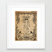 devil Framed Art Prints featuring Devil by Sophie Jewel