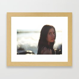 Caught By The Ocean Framed Art Print