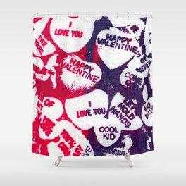 valentine love hearts Shower Curtain