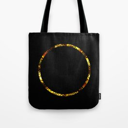 Golden Ring - Minimalistic, gold and black abstract art, metallic gold texture Tote Bag