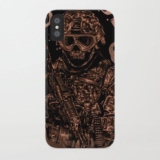 Military skull iPhone Case